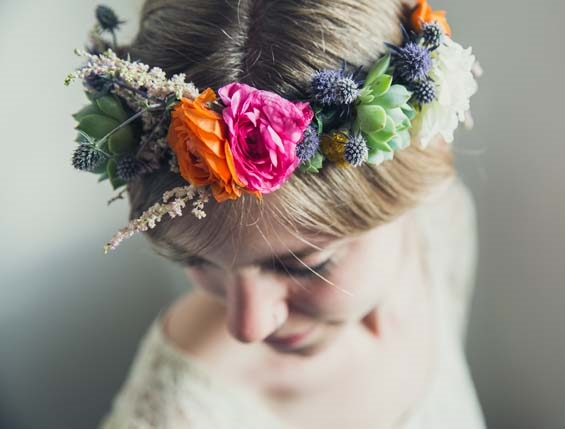 20 DIY Bridal Fresh Flower Crowns