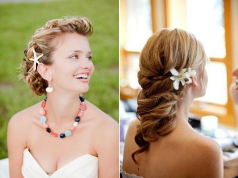 Unique Beach Wedding Hair