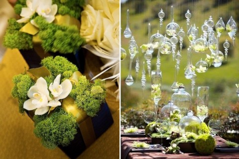Great How To Incorporate Moss Into Your Wedding Decor: 7 Ideas And 64 Examples |  HappyWedd.com