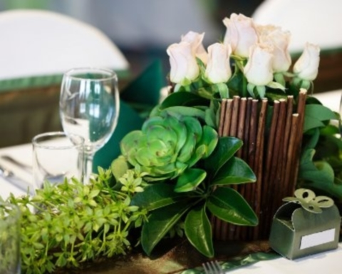 67 succulent wedding decor ideas - Decoration table mariage nature ...