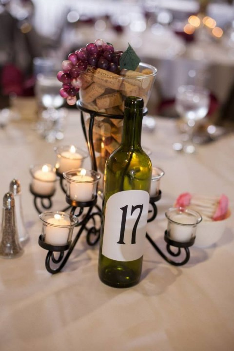 53 vineyard wedding centerpieces to get inspired for Wine centerpiece ideas