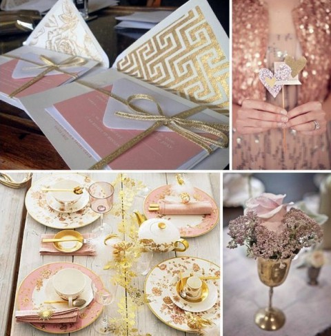 82 Subtle Blush And Gold Wedding Ideas Happywedd Com