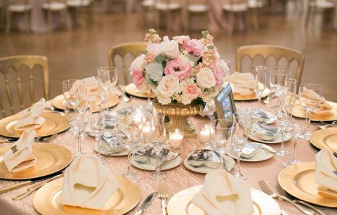 82 Subtle Blush And Gold Wedding Ideas | HappyWedd.com