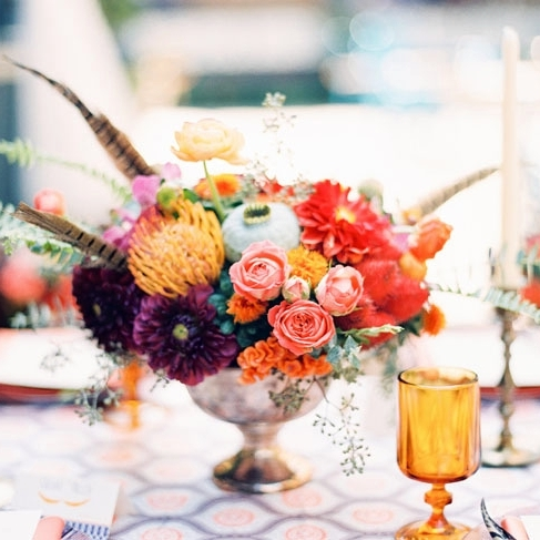 44 Adorable Boho Chic Wedding Centerpieces HappyWeddcom