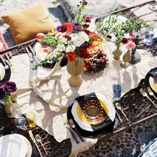 45 Bold Boho Wedding Table Settings