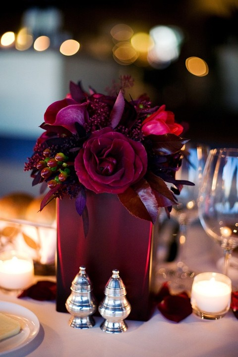 Dramatic burgundy wedding ideas happywedd