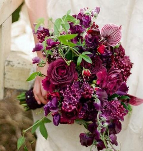 Ivory burgundy wedding