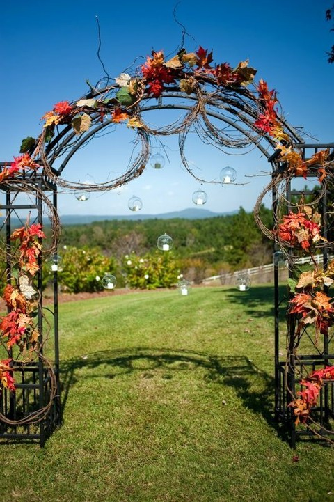 46 Outdoor Fall Wedding Arches