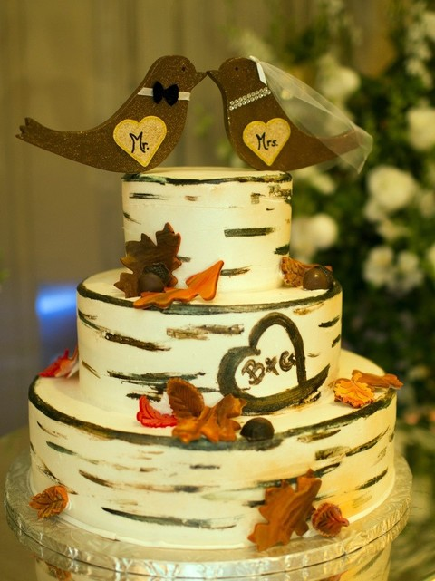 59 Delicious Fall Wedding Cakes | HappyWedd.com