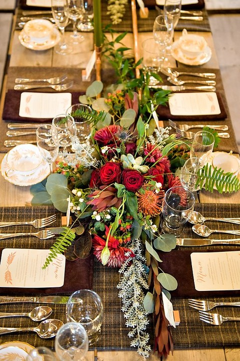 Romantic fall wedding tablescapes happywedd