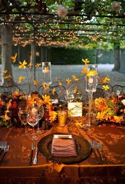 62 romantic fall wedding tablescapes for Autumn wedding decoration