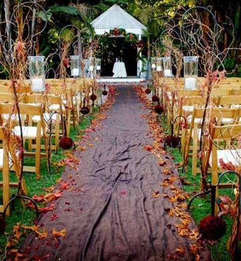 57 fall wedding aisle decor ideas for Autumn wedding decoration