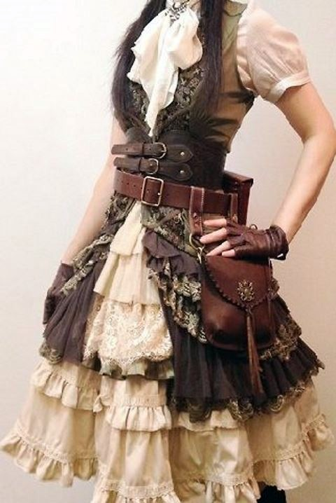 steampunk bridesmaid dress