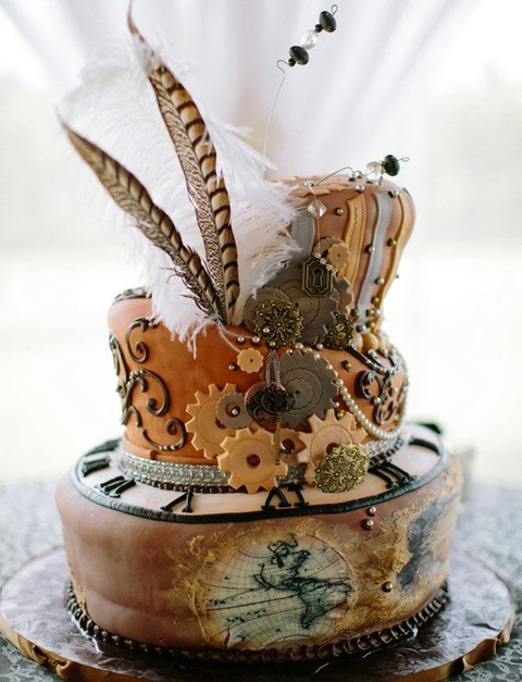 29 Crazy Steampunk Wedding Cakes