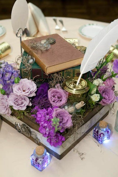Steampunk Wedding Table Decorations