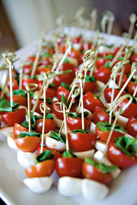 55 savory fall wedding appetizers for Simple canape ideas