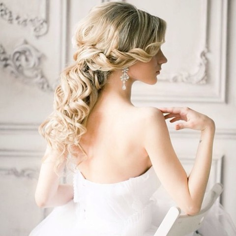28 awesome wedding half updos happywedd