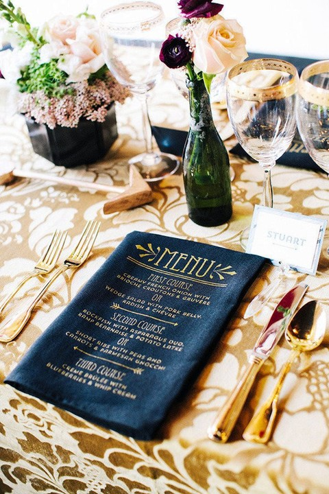 55 Original Wedding Menu Ideas