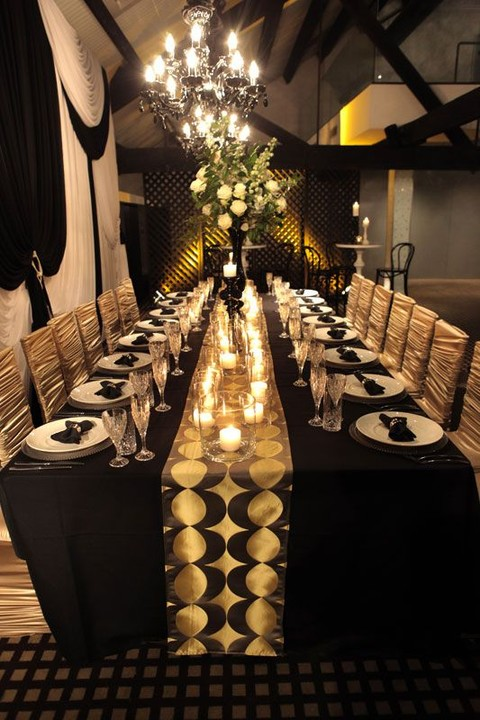 80 Adorable Black And Gold Wedding Ideas | HappyWedd.com