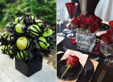 45 stunning halloween wedding centerpieces happyweddcom - Halloween Centerpieces Wedding