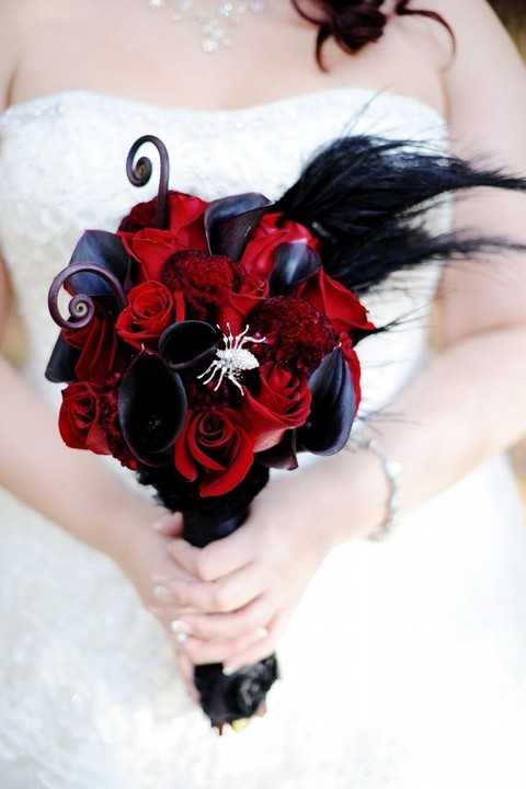 60 halloween wedding bouquets to get inspired for Wedding flowers ideas pictures