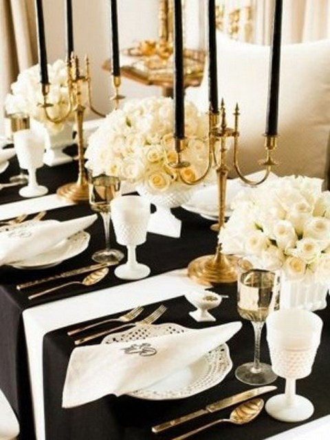 40 dramatic halloween wedding table settings - Halloween Place Settings