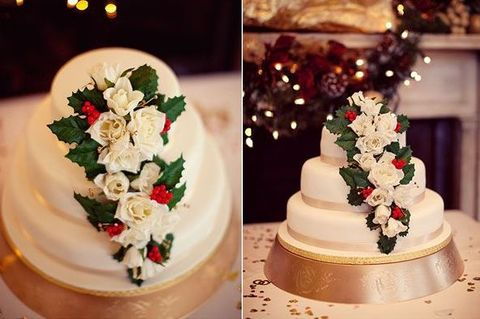 33 adorable christmas wedding cakes happyweddcom