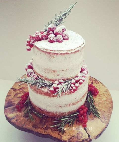 33 adorable christmas wedding cakes