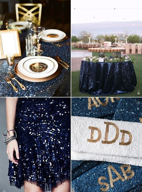 elegant navy gold wedding ideas