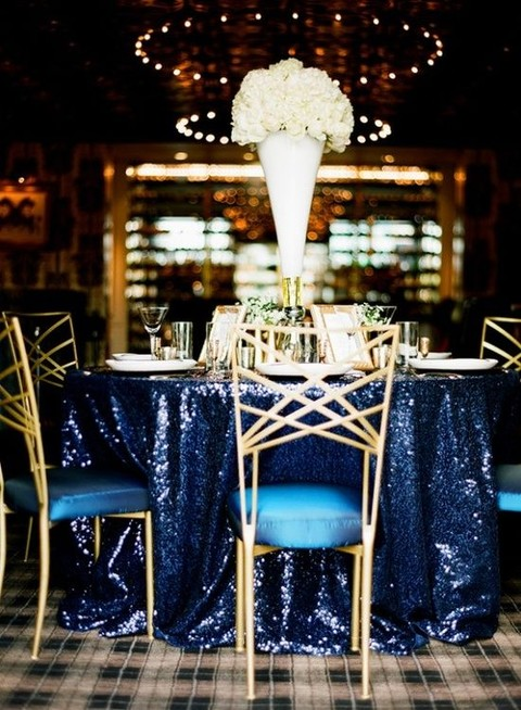 55 Elegant Navy And Gold Wedding Ideas