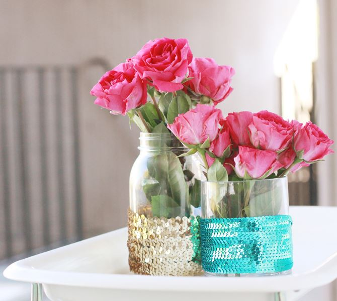 20 Cool DIY Sequin Crafts For Your Big Day