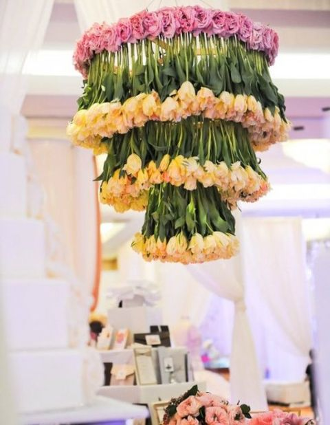Flowers hanging overhead wedding reception 37 ideas happywedd junglespirit Image collections