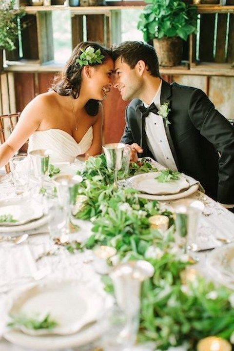 90 breathtaking green and flower wedding table runners happywedd junglespirit Images