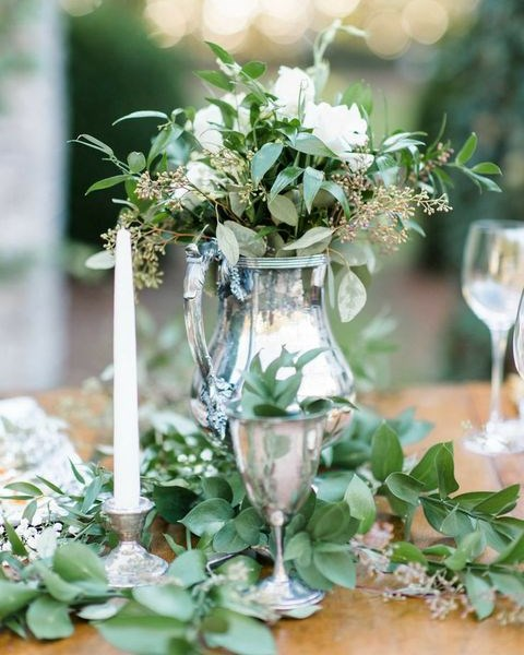 Fresh Greenery Centerpiece : Fresh greenery details for spring weddings happywedd