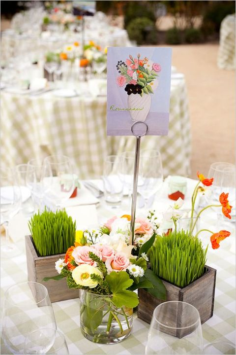 Spring freshness 45 wheatgrass wedding ideas - Decoration table restaurant gastronomique ...