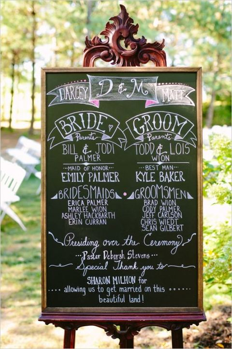 60 Cool Chalkboard Wedding Ideas