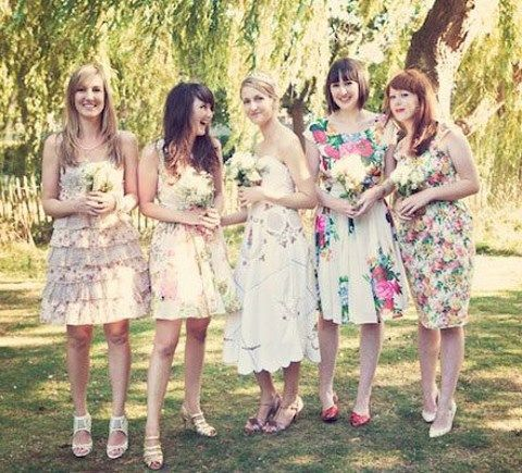 70db346616c6 33 Floral Printed Bridesmaid Dresses | HappyWedd.com