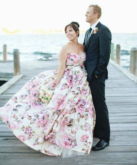 30 Gorgeous Floral Wedding Dresses
