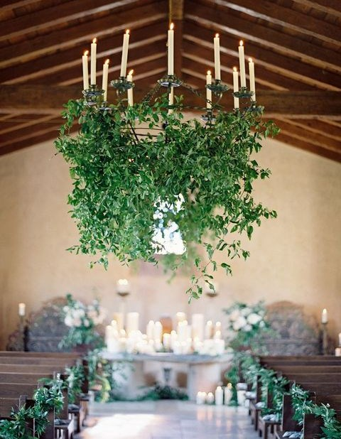 105 greenery and floral chandeliers for your wedding happywedd aloadofball Image collections