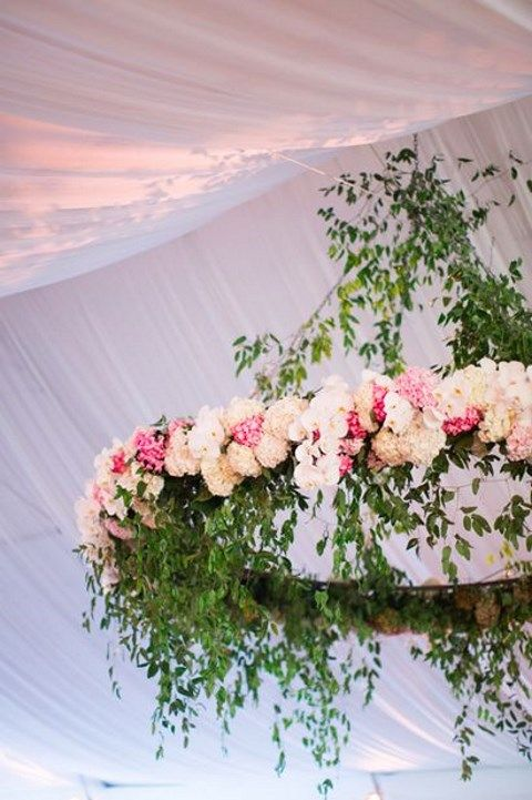 105 Greenery And Floral Chandeliers For Your Wedding ...