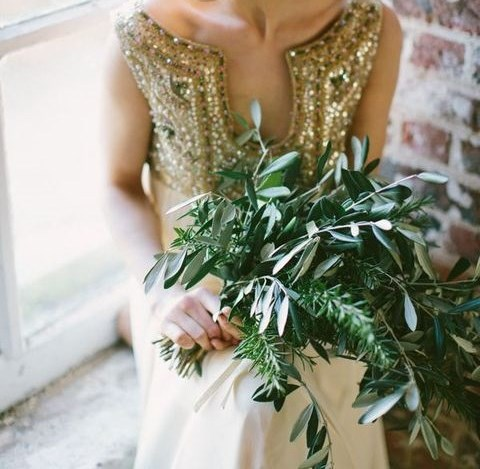 33 Greenery Wedding Bouquets To Rock