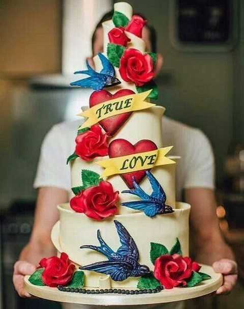 60 Fun And Colorful Rockabilly Wedding Cakes