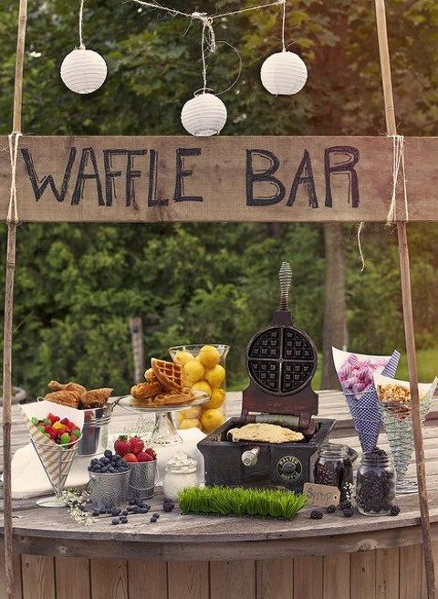 40 creative and cute rustic bridal shower ideas for Outdoor brunch decorating ideas
