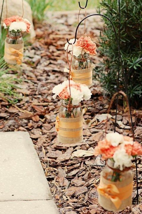 40 creative and cute rustic bridal shower ideas for Cute wedding decoration ideas