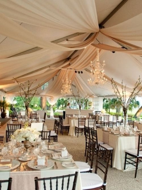 5 Ways And 125 Examples To Decorate Your Wedding Tent | HappyWedd.com