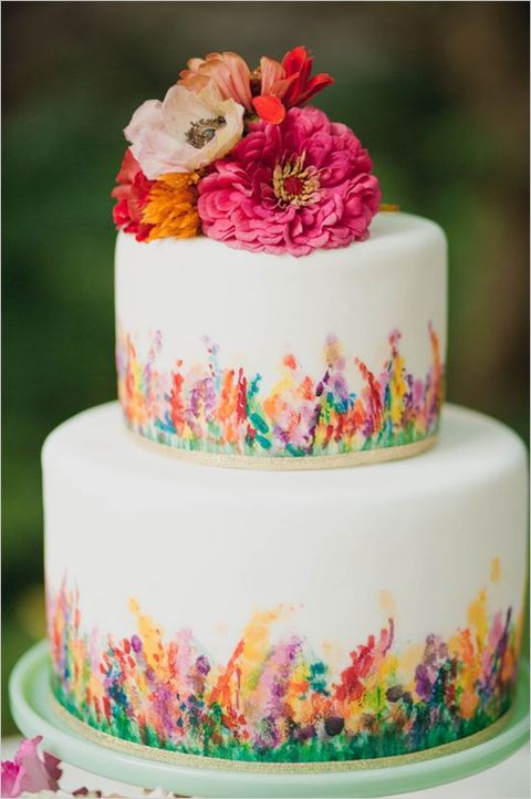 Cake Art Flowers : 53 Watercolor Wedding Cakes That Really Inspire ...