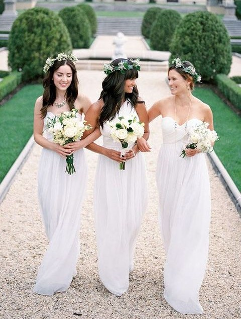 40 Stylish White Bridesmaids' Dresses