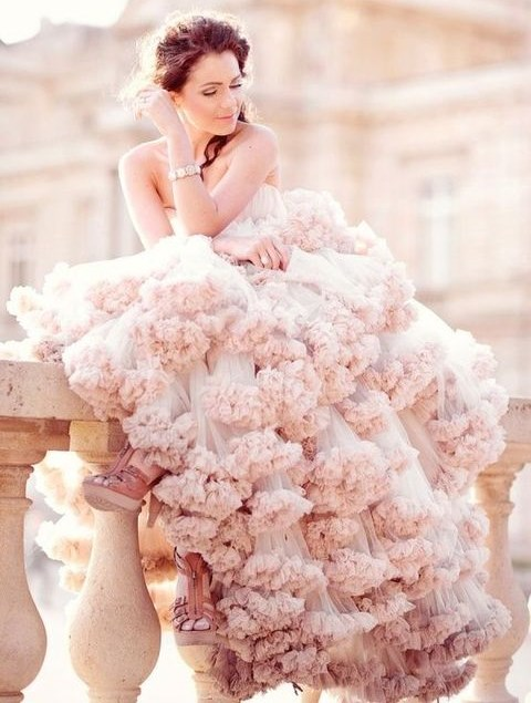 78 Cute And Girlish Ruffled Wedding Dresses | HappyWedd.com