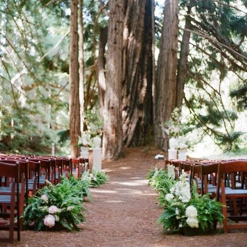 23 Woodland Wedding Aisle Decor Ideas