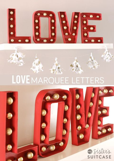 13 diy marquee lights numbers and letters for wedding decor